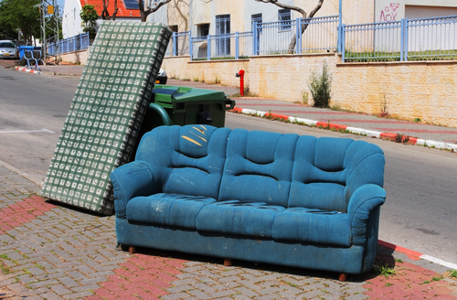 throwing out old furniture